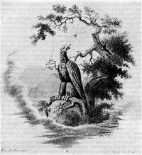 «Орел и паук». Гравюра Кулыбина с рис. И. Иванова